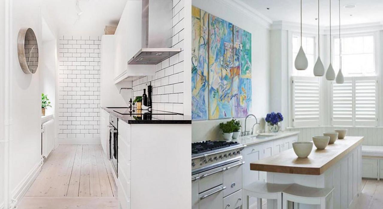 Scegliere le giuste ante per una cucina luminosa - Colori per cucina piccola ...